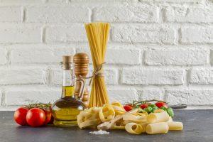Pasta olie tomat italiensk